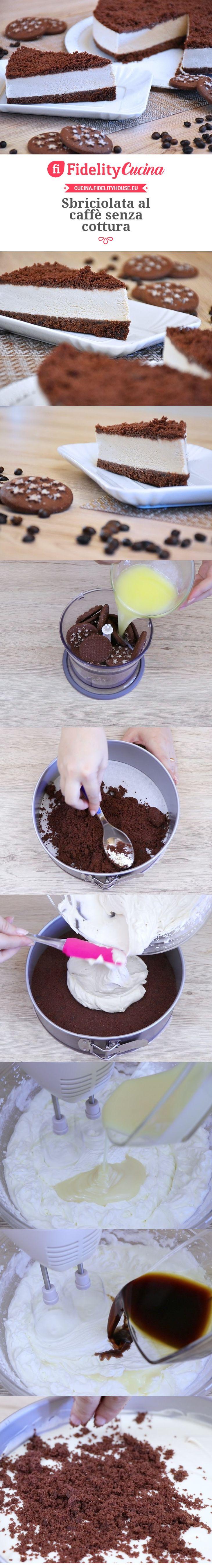 Sbriciolata al caffè senza cottura