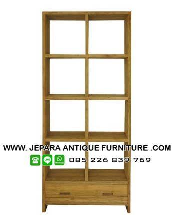 Model lemari rak buku kantor, lemari kantor, lemari buku kayu jati