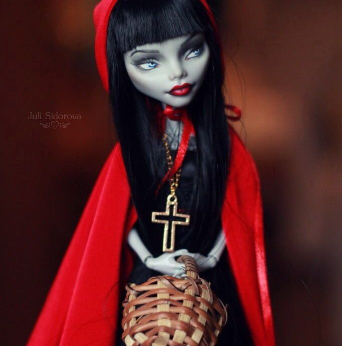 OOAK Monster High Ghoulia Little Red Riding Hood by Juli Sidorova ☜♡☞ | eBay
