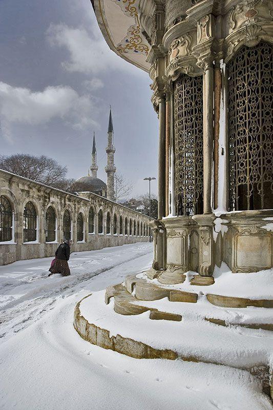 Istanbul Under Snow,