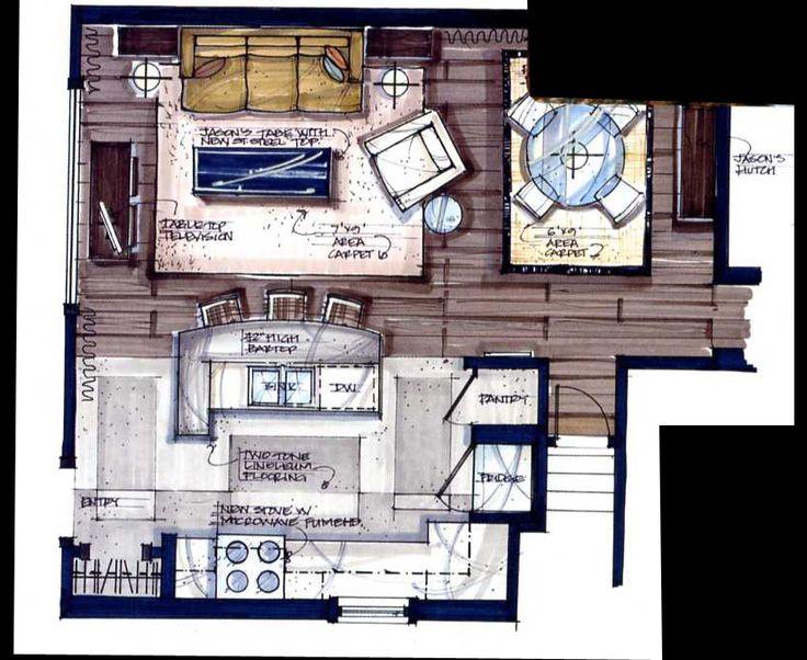 Interior Design Floor Plan Sketches 84 best interior design sketches images on pinterest | interior