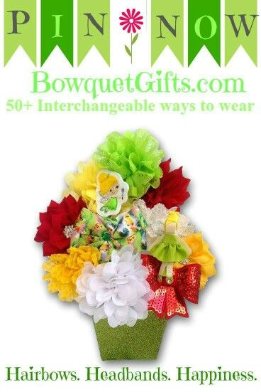 Enchanted fairy gift basket for Birthday, christmas, back to school gift sets. 12 hair bows with three coordinating headbands. Can be worn alone or on headband. 52 wearable options. Mix & Match!