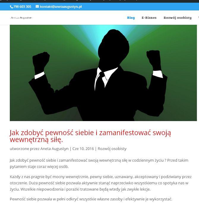 Artykuł przeczytasz na http://anetaaugustyn.pl/jak-zdobyc-pewnosc-siebie/
