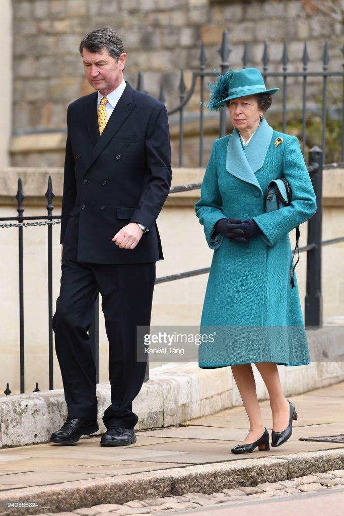 Princess Anne, Princess Royal and Vice Admiral Sir Timothy