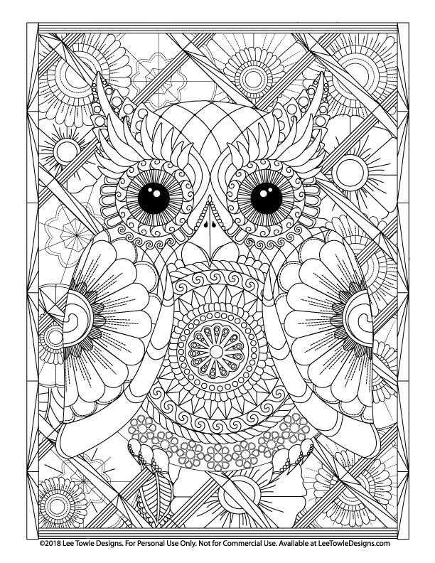 Free Advanced Coloring Pages In 2020 Owl Coloring Pages Mandala Coloring Pages Coloring Books
