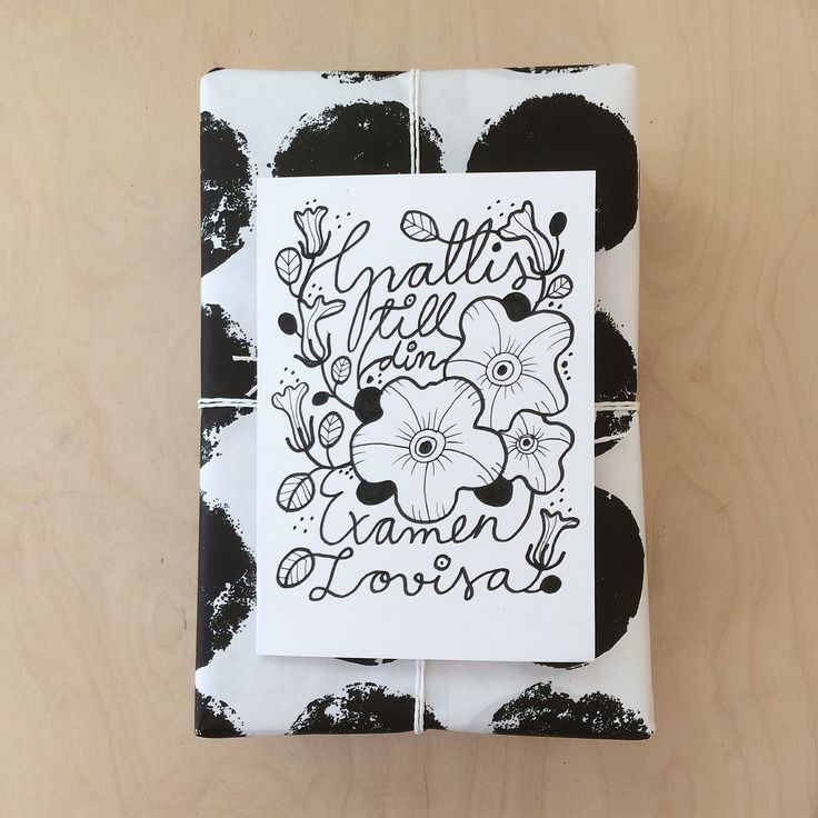 Lettering. Handmade cards. Floral drawing. Botanical drawing. By Johanna Sandberg.