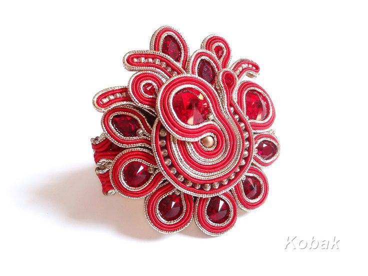 Stunning Statement bracelet with Swarovski Crystals www.kobakbijoux.com