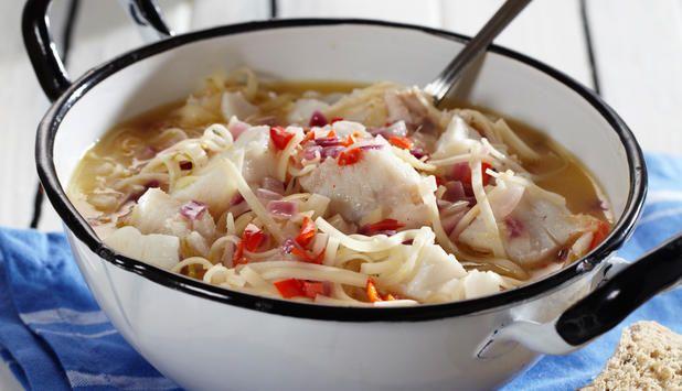 Denne fiskegryten består av smaker fra Thailand. Vi har brukt torsk i gryten, men du kan fint variere oppskriften med andre typer hvitfisk som sei eller hyse.