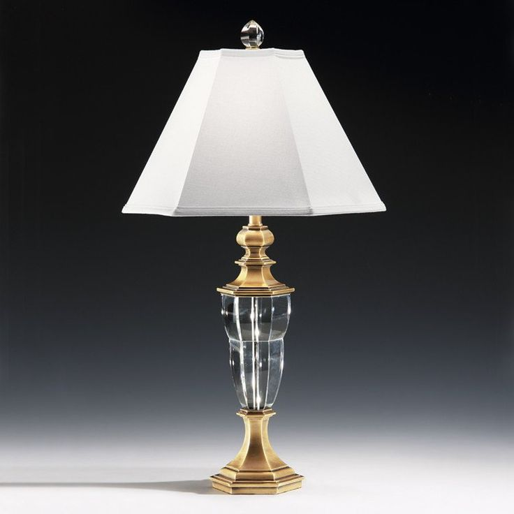 vintage crystal table lamps for sale french modern brass lamp cut antique waterford