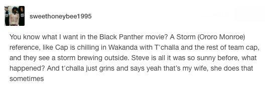king t'challa of wakanda ororo munroe storm x men black panther avengers marvel mcu