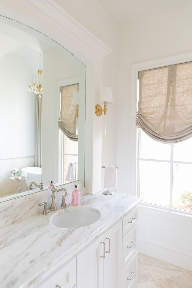 Bathroom White Paint Color Is Sherwin Williams Alabaster Bathroom