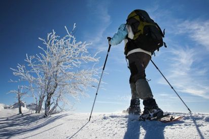 2 hour snowshoe trekking, hot beverage and cake included 70,- € per person