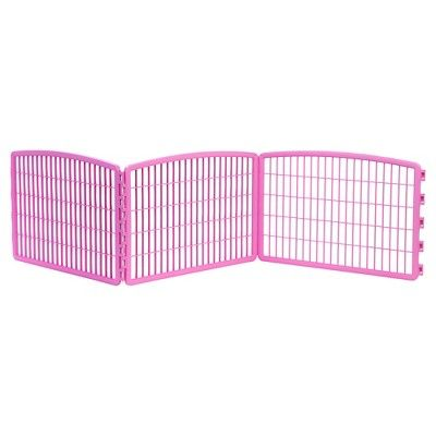 Iris Indoor/Outdoor Plastic Pet Pen - Pink - 24in