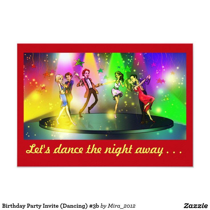 Birthday Party Invite (Dancing) #3b