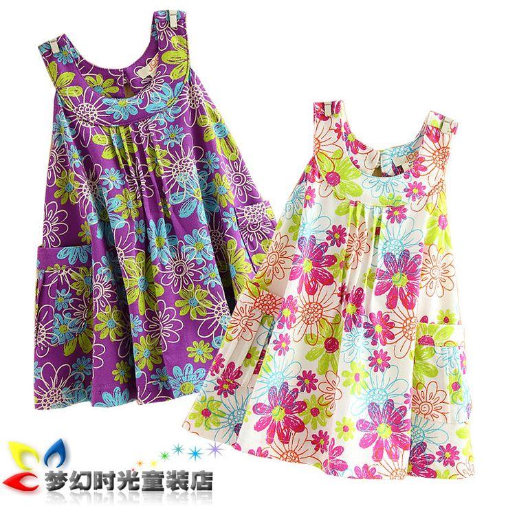 patrones de vestidos de niña gratis Las niñas vestidos de verano                                                                                                                                                                                 Más