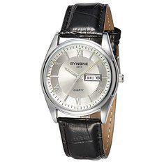 #Banggood Synoke 8602 мужчин бизнес случайный календарь светящиеся руки аналоговые часы (988924) #SuperDeals