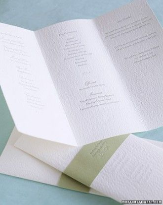 """See the """"Letterpress Trifold Program"""" in our Classic Wedding Ceremony Programs gallery"""
