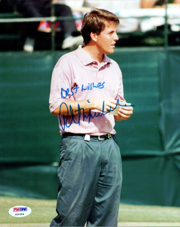 """Phil Mickelson Autographed 8x10 Photo """"Best Wishes"""" PSA/DNA"""