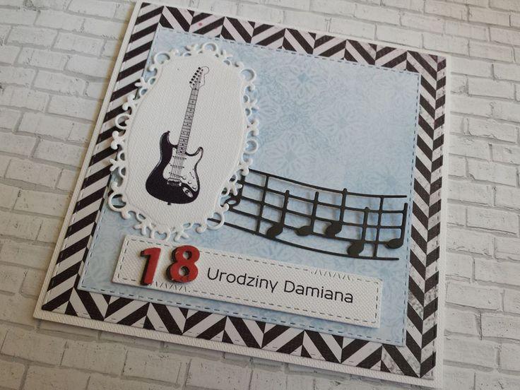 Urodzinowa kartka dla młodego gitarzysty :)