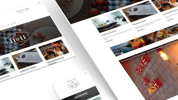 Una de las primeras páginas web que realizó nuestra agencia de publicidad fue la de 11&11 Restobar de Estepona (Málaga). Un diseño web clásico y elegante, en el que el usuario podrá conocer de primera mano la carta del 11&11, así como los eventos que se organizan en el restaurante. A través de su página web podrás conocerlos antes incluso de visitarlos #diseño #diseñoweb #diseñográfico #páginasweb #publicidad #agenciadepublicidad #Sevilla