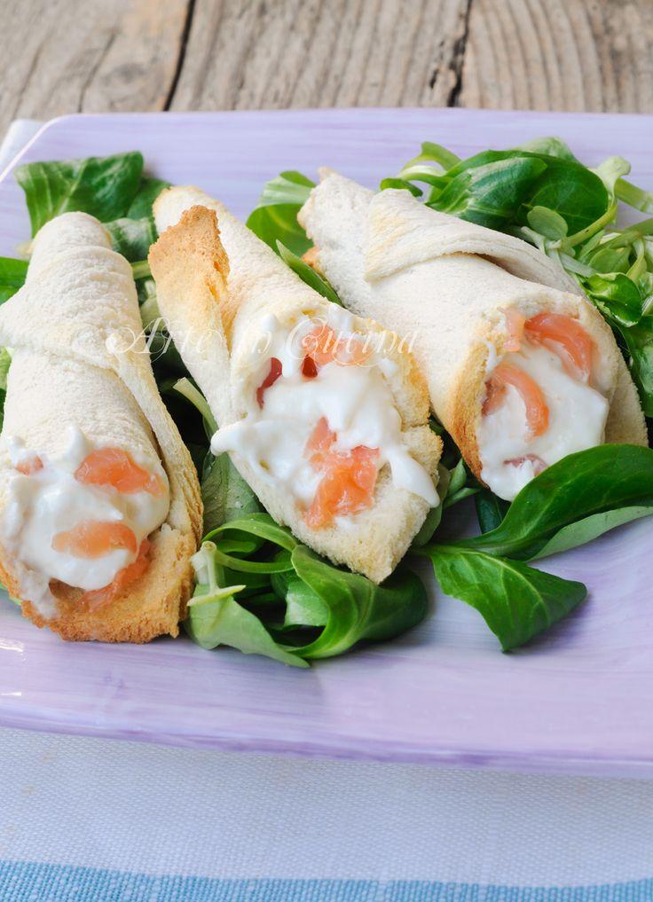 Coni di pancarre ripieni con burrata e salmone vickyart arte in cucina antipasto