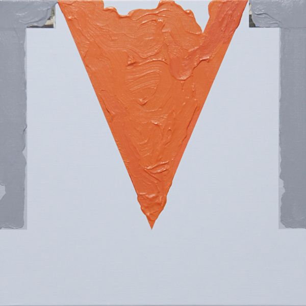 Sean Bailey, Symbol and Arms, 2013, synthetic polymer paint, collage, linen board, 30.5 x 30.5 cm
