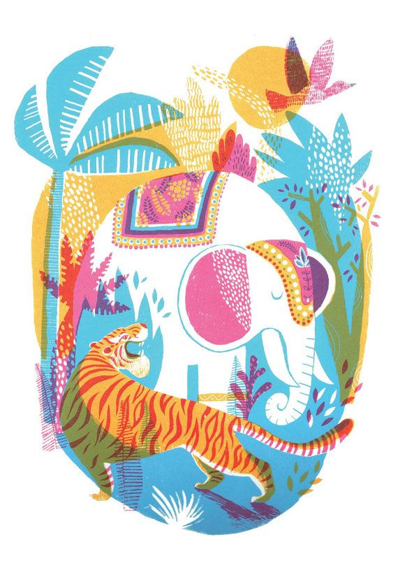 Jungle // A6 blank greeting card by essillustration on Etsy
