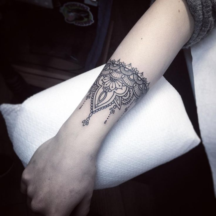 Wrist Cuff Tattoo Designs