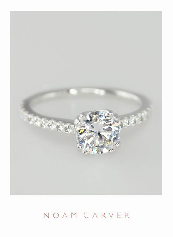 A classic solitaire for a classic bride. Designer engagement rings by Noam Carver – model B001-01 noamcarver.com/…