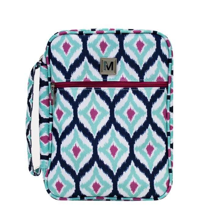 Bible Case Bible Cover Ikat Pink Teal and Navy – Mary Square