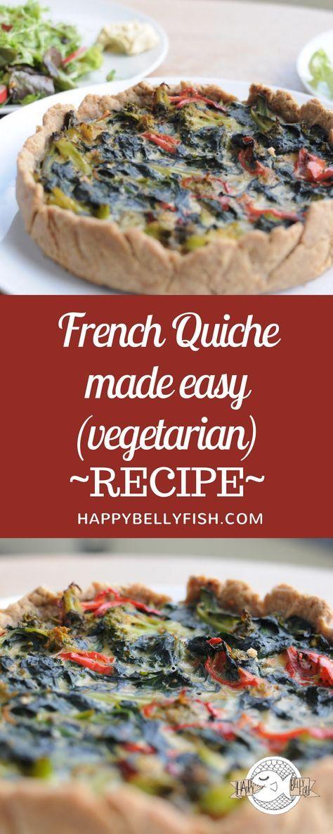 French Quiche made easy - vegetarian recipe: https://happybellyfish.com/recipes/french-quiche-made-easy/ Французский пирог Киш - рецепт: https://happybellyfish.com/ru/recipes/french-quiche-made-easy/ Quiche französischer Rezept
