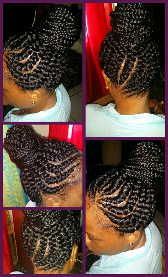 Big cornrows updo | hairstyle ideas n inspiration ...