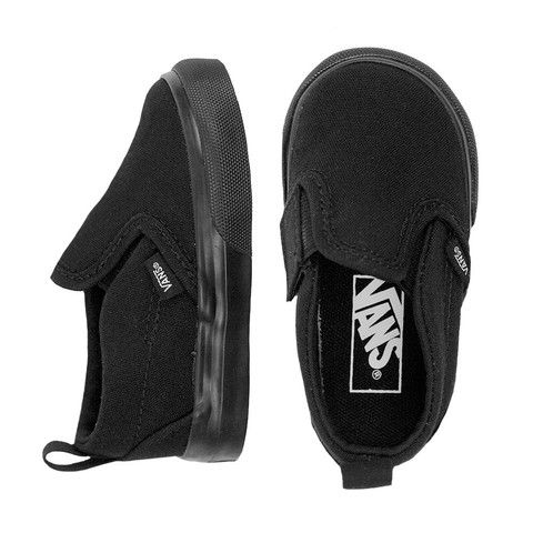 Vans Slip on Black - mini mioche - organic infant clothing and kids clothes - made in Canada
