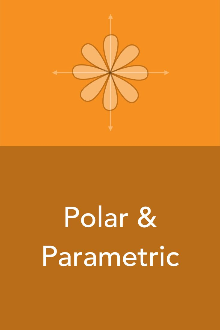 Polar curves and parametric curves are defined in a polar coordinate system in terms of r and theta, instead of a cartesian coordinate system in terms of x and y. Parametric curves are unique because each function is defined by two equations, usually one for x and one for y, each in terms of a third parameter, t.