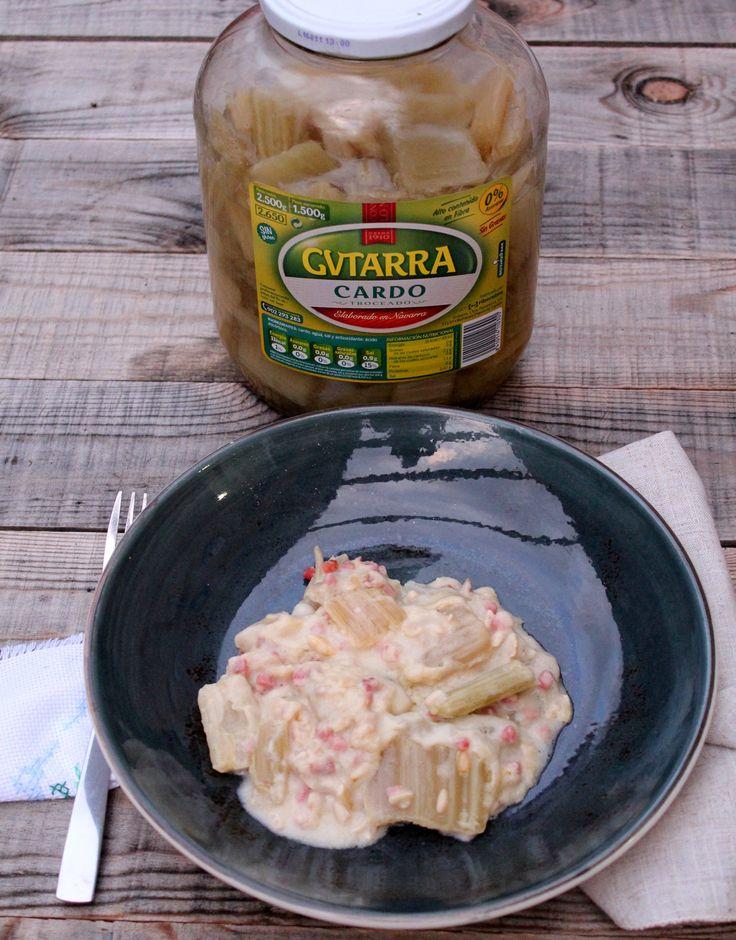 cardo en salsa de piñones 6