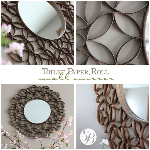 Toilet paper roll mirror frame