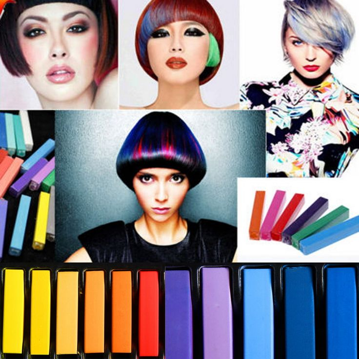 2016 Beauty 1 Set Convenient Temporary Super Hair Dye Colorful Chalk Hair Color Alcohol-Free Chalks Crayons Free Shipping
