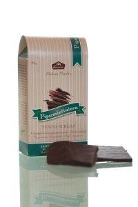 Aito piparminttuöljy pehmentää tumman suklaan makua ja antaa sille raikkaan mintun maun. #frookynanherkku #kotimaisetherkut #suklaatila #suklaa