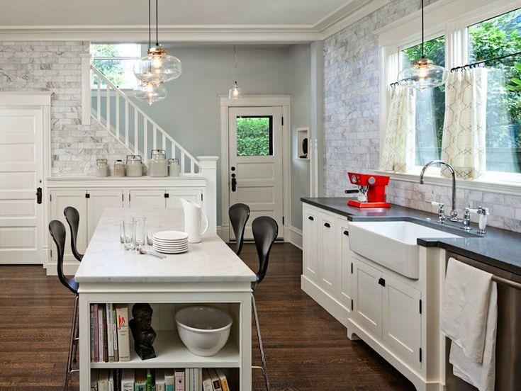 Suzie: Jessica Helgerson Interior Design - Modern white kitchen design with Benjamin Moore ...