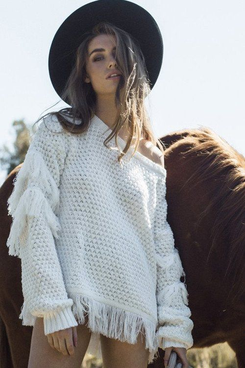 Winter beauty - The Isabel Fringe Sweater by Rue Stiic at The Freedom State