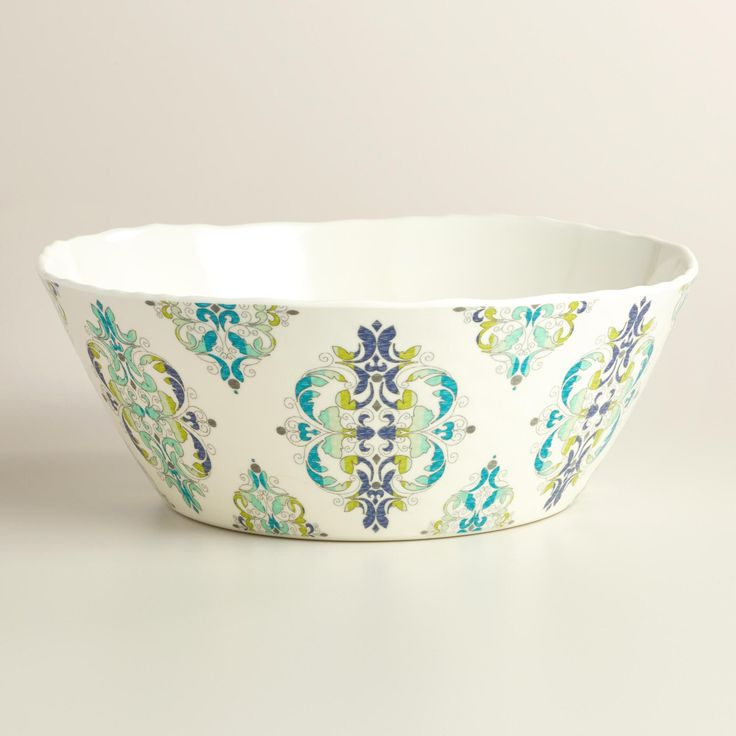 Featuring a Mediterranean-inspired design, our break-resistant and easy-to-clean serving bowl lends a fresh twist to a classic indoor or outdoor entertaining essential.