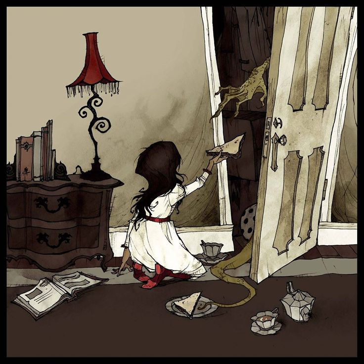 """Abigail Larson  """"I heard a great story on Monsters and Mysteries in America about a woman who's daughter had an imaginary friend, and she'd ask for extra sandwiches to give to it. One day, the mother peeked into the room to see what her daughter was doing with all the food, and she watched her daughter hold the sandwich up to her closet door, and a huge reptilian claw snatched it up and disappeared into a hole in the back of the closet."""""""