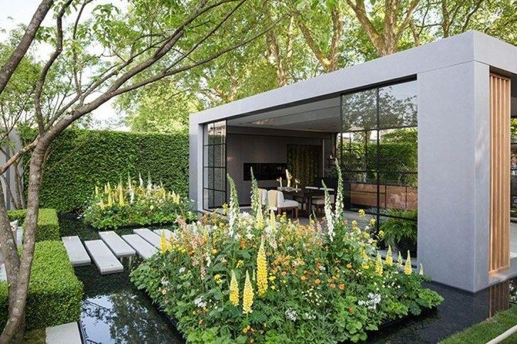 40 Beautiful Flower Garden Design Ideas Pimphomee In 2020 Contemporary Garden Beautiful Flowers Garden Contemporary Garden Design