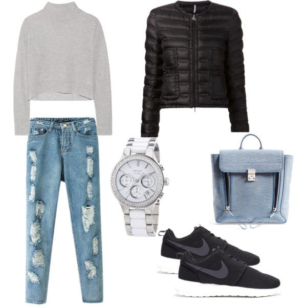 casual by voicuandrada on Polyvore featuring Line, Moncler, Chicnova Fashion, 3.1 Phillip Lim and DKNY