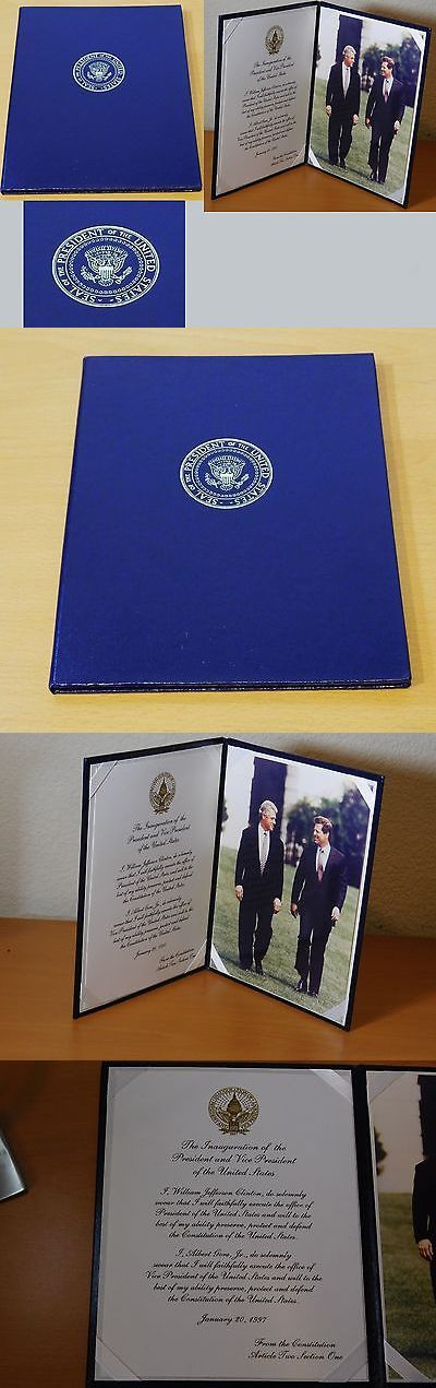 Bill Clinton: Authentic Bill Clinton Presidential Seal Oath Of Office Vip Presentation Edition -> BUY IT NOW ONLY: $59 on eBay!