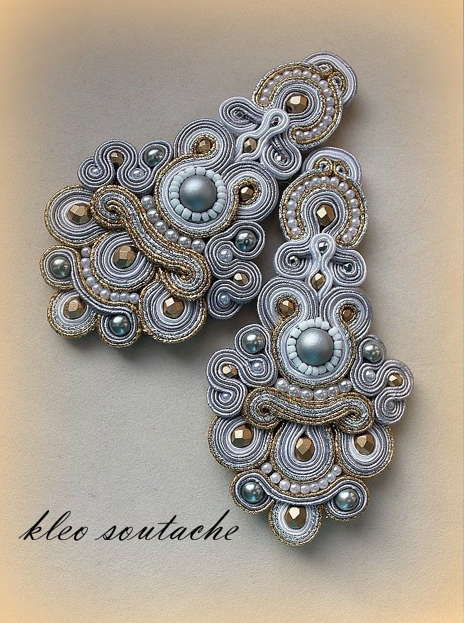 i could do it in soutache- but how about polymer...Sutasz Kleo /Soutache jewellery