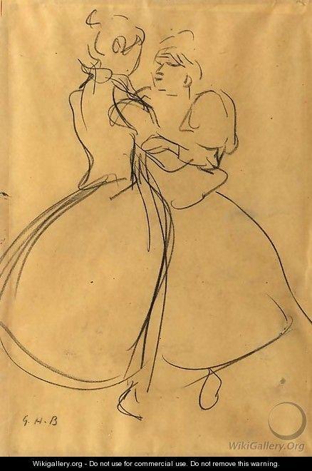 Zeedijk dancing girls - George Hendrik Breitner