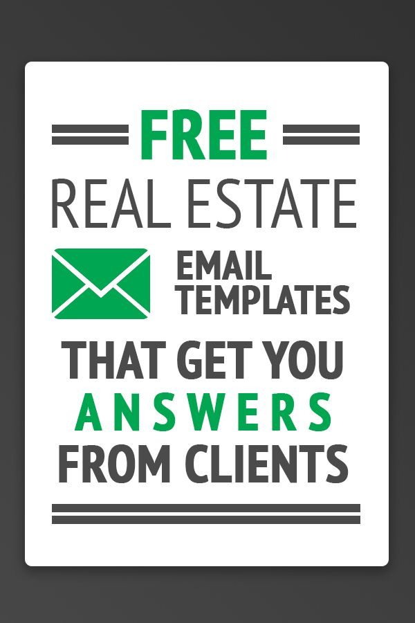13 Free Real Estate Email Templates That Get You Answers Real
