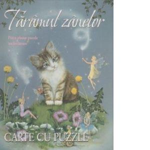 Carte cu puzzle - Taramul zanelor. Patru planse puzzle incantatoare