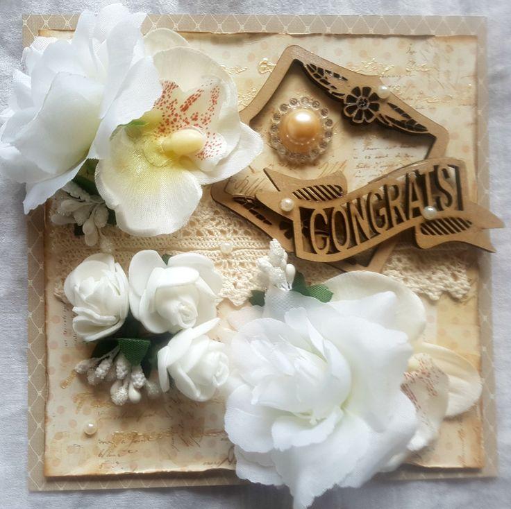 """Mixed Media Greeting Card """"Congrats"""""""